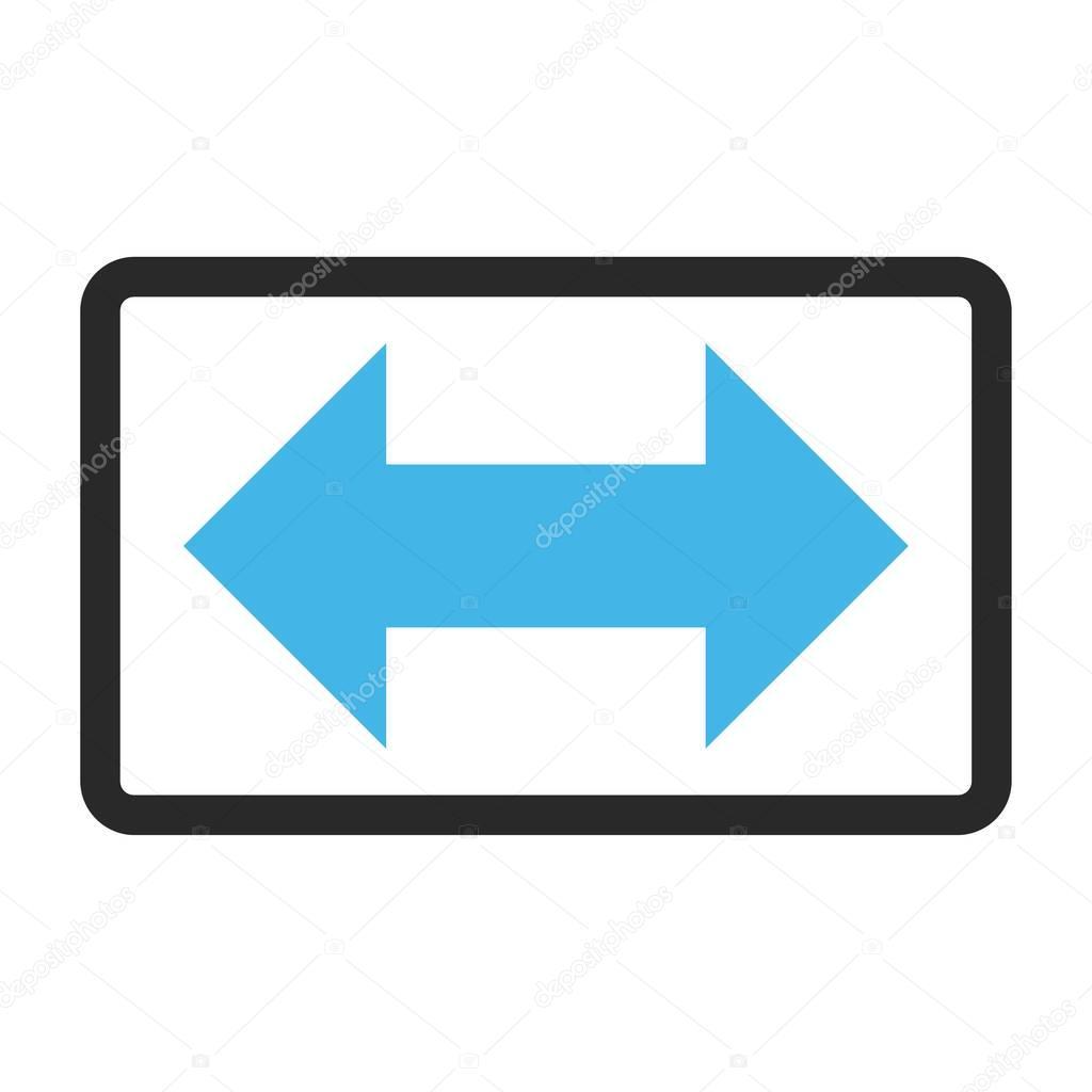 Las flechas horizontales de intercambio enmarcan Vector icono ...