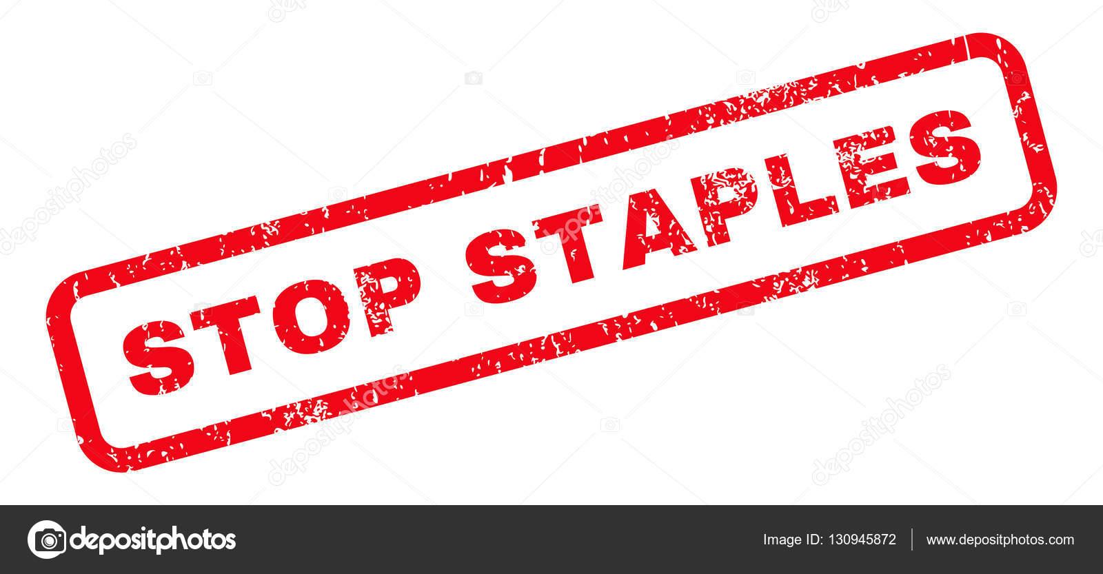 Staples Stempel Zu Stoppen Stockvektor Anastasyastocks