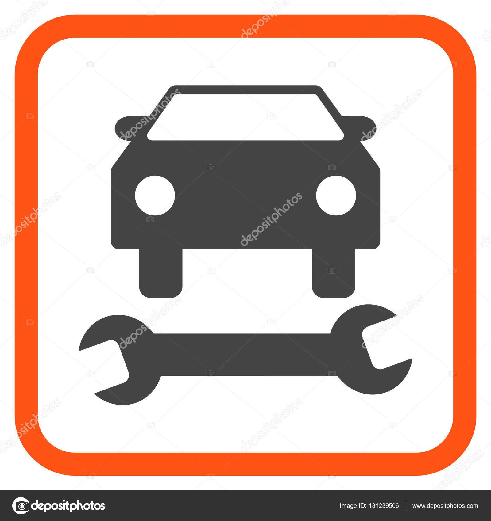 Reparación de coche Vector icono en un marco — Archivo Imágenes ...