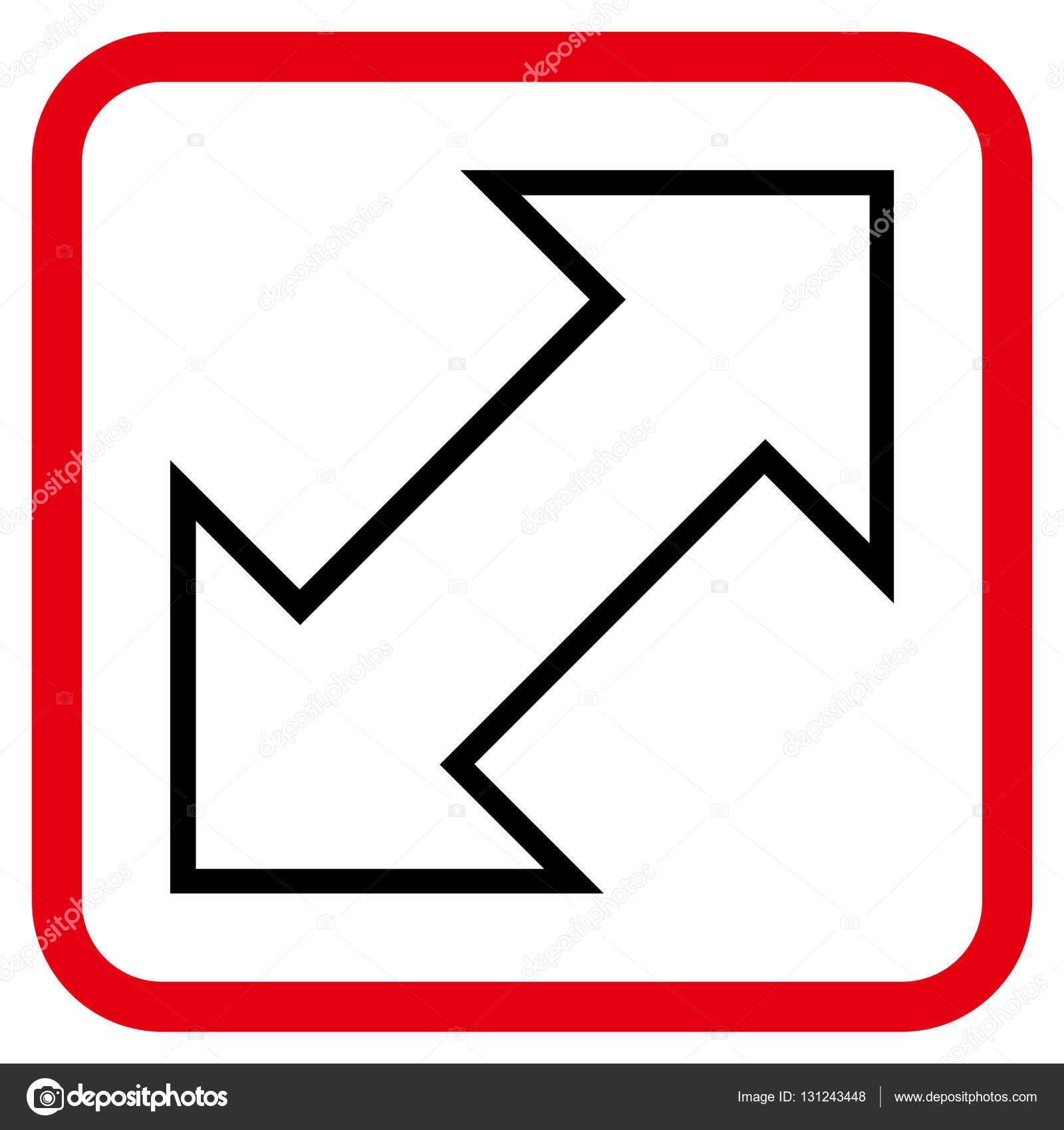 Icono de Vector Diagonal de intercambio en un marco — Archivo ...