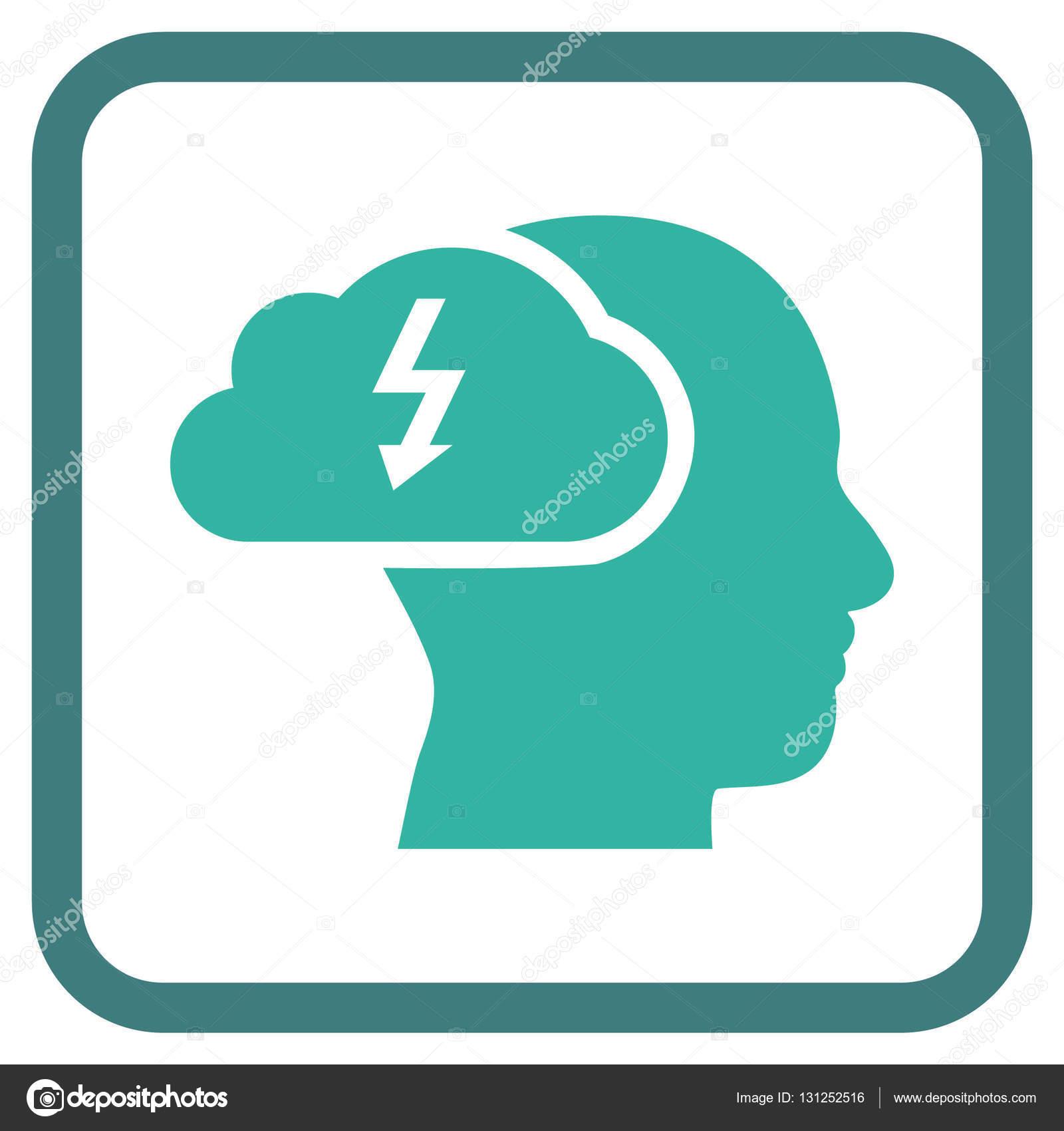 Icono de Vector de intercambio de ideas en un marco — Vector de ...