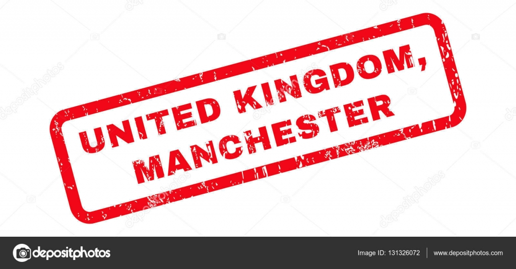United Kingdom Manchester Rubber Stamp Stock Vector