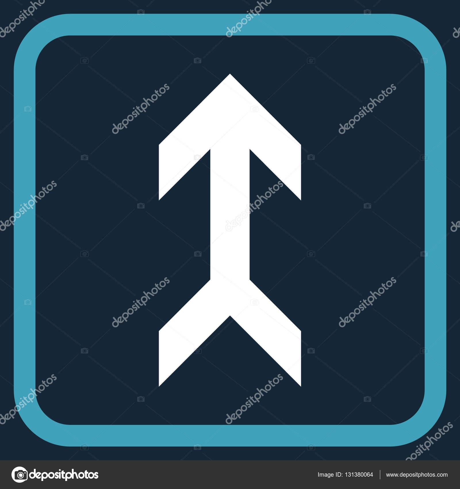 Flecha hacia arriba del icono de Vector de un marco — Archivo ...