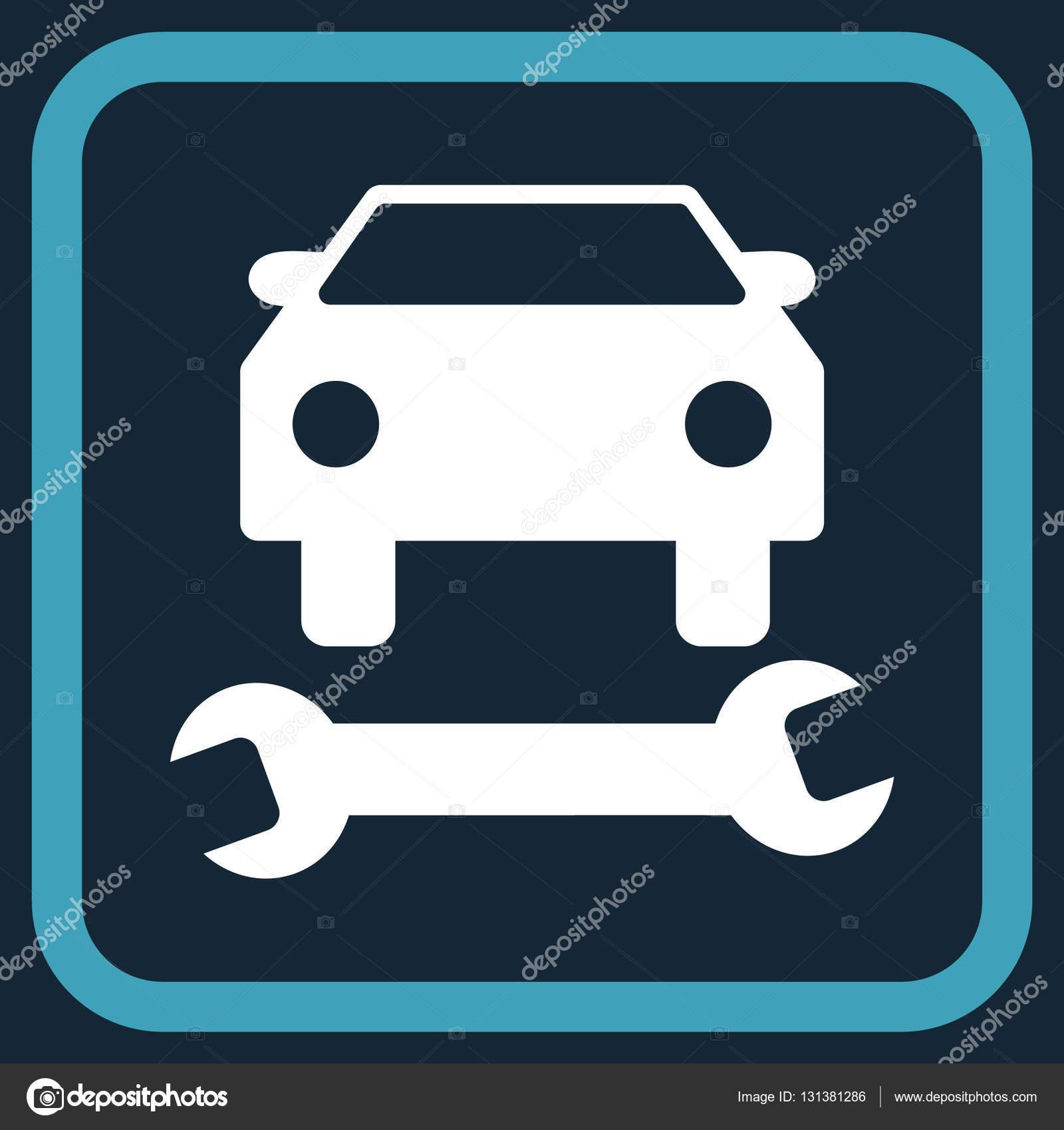 Auto-Reparatur-Vektor-Symbol In einem Frame — Stockvektor ...