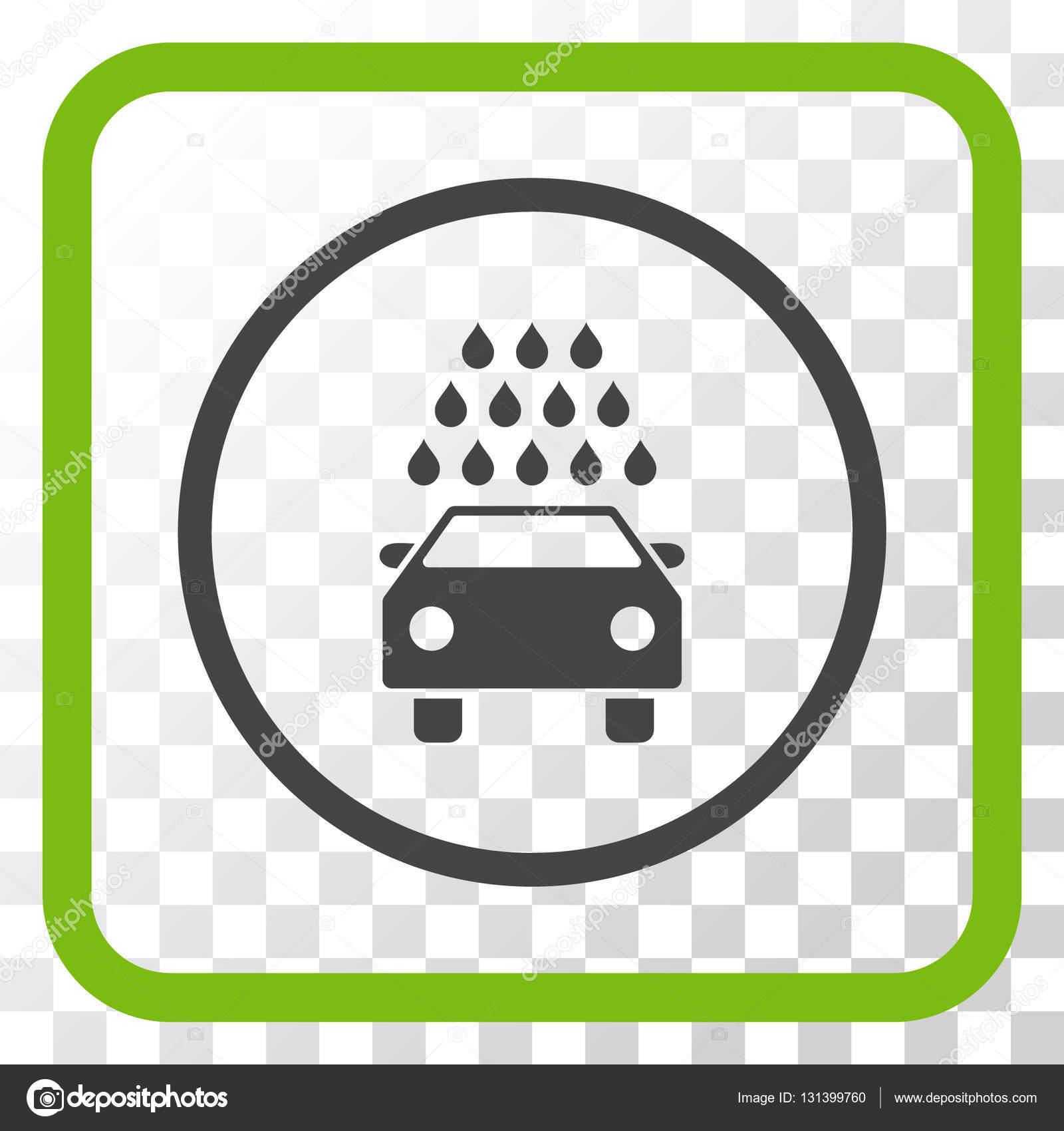 Car Wash Vector Icon In a Frame — Stock Vector © anastasyastocks ...