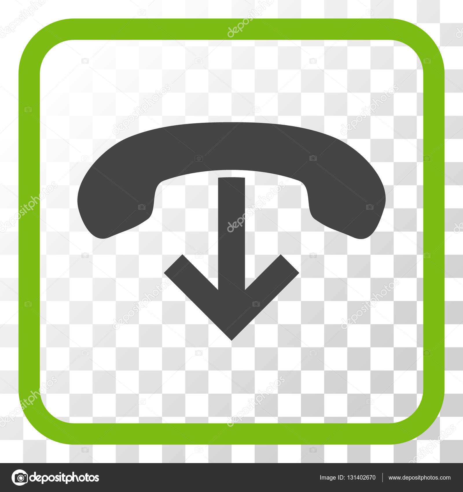 Teléfono colgar Vector icono en un marco — Archivo Imágenes ...