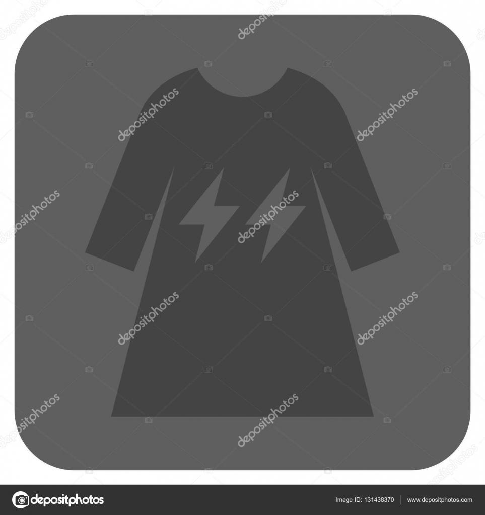 Elektrische Energie Mädchen Kleid abgerundete quadratische Vektor ...