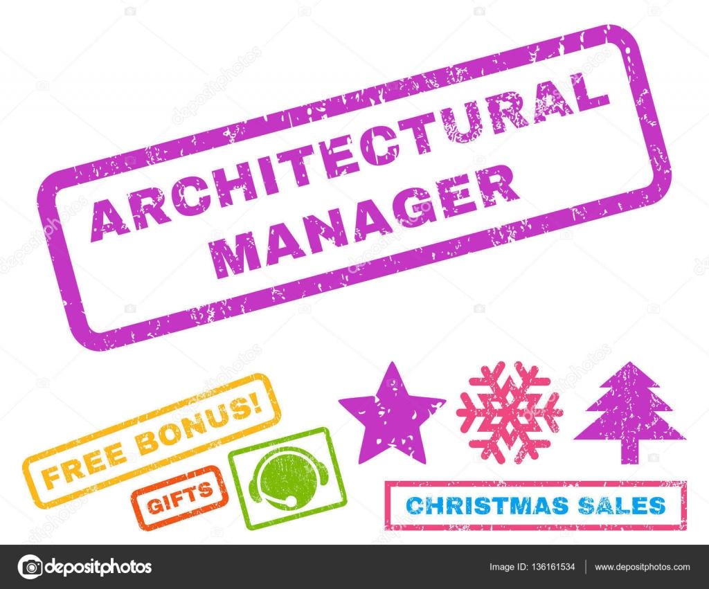 architectural manager rubber stamp stock vector anastasyastocks
