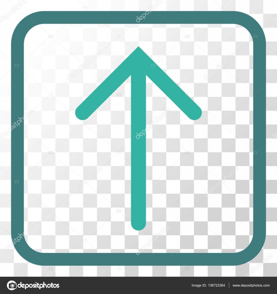 Flecha hacia arriba del icono de Vector de un marco — Vector de ...