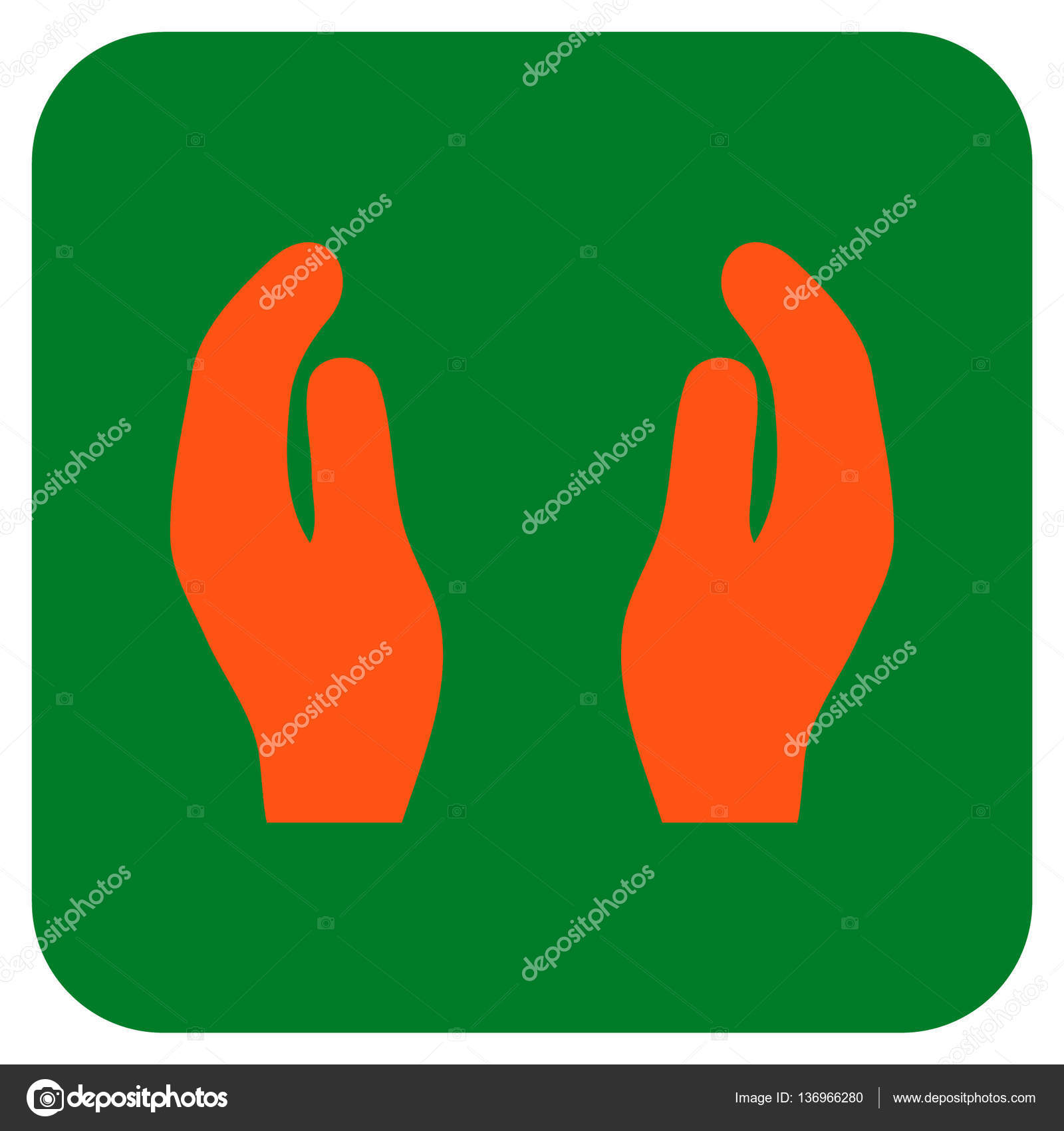 applause hands flat squared vector icon stock vector