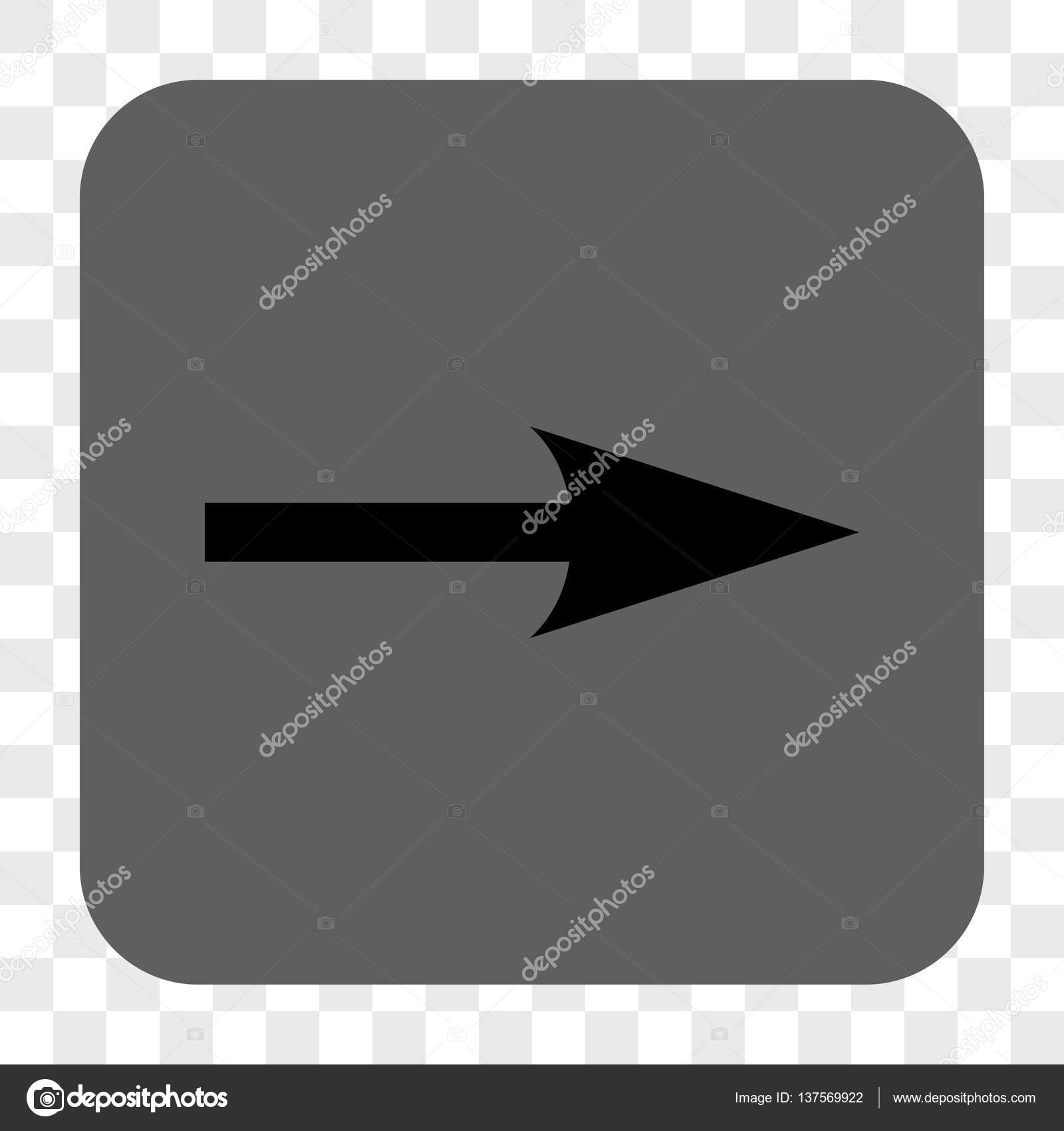 Sharp Arrow Right Rounded Square Button Stock Vector