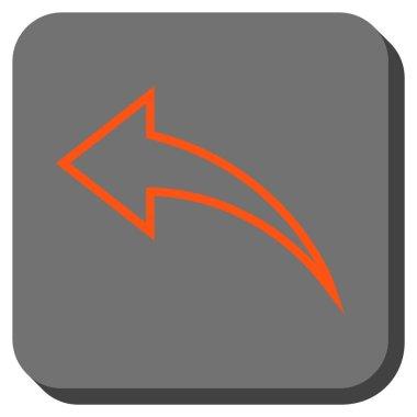 Undo Rounded Square Vector Icon
