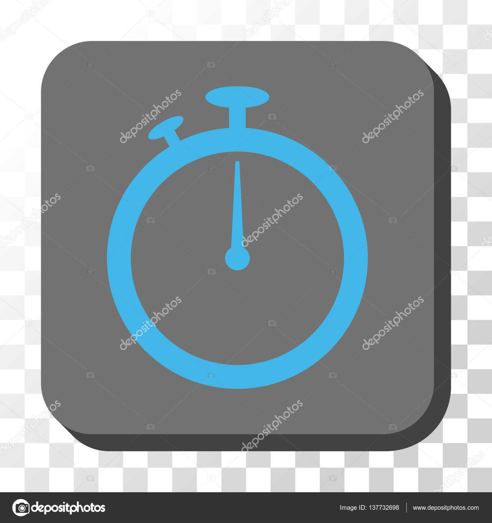 Stopwatch Rounded Square Vector Button — Stock Vector ...