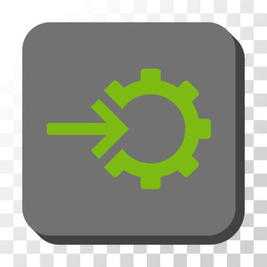Cog Integration Rounded Square Vector Button