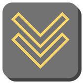 Posunout dolů zaoblený čtverec vektorové ikony