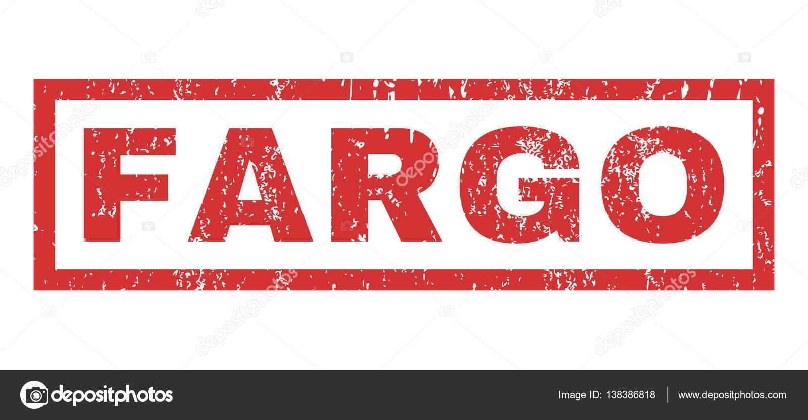 Fargo Rubber Stamp Stock Vector