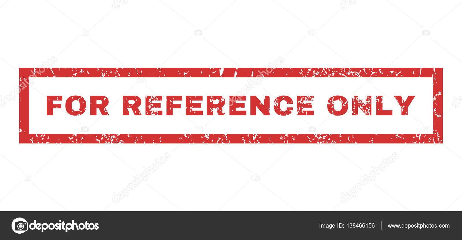 For Reference Only Rubber Stamp Stock Vector