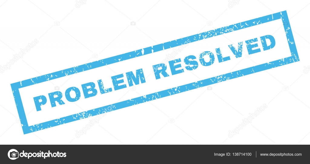 Problem Resolved Rubber Stamp — Stock Vector