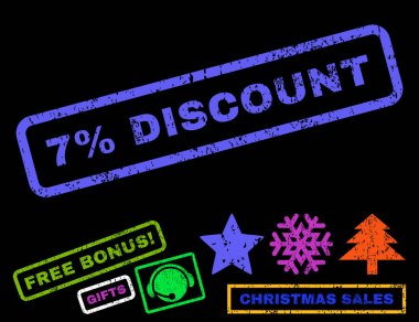 7 Percent Discount Rubber Stamp