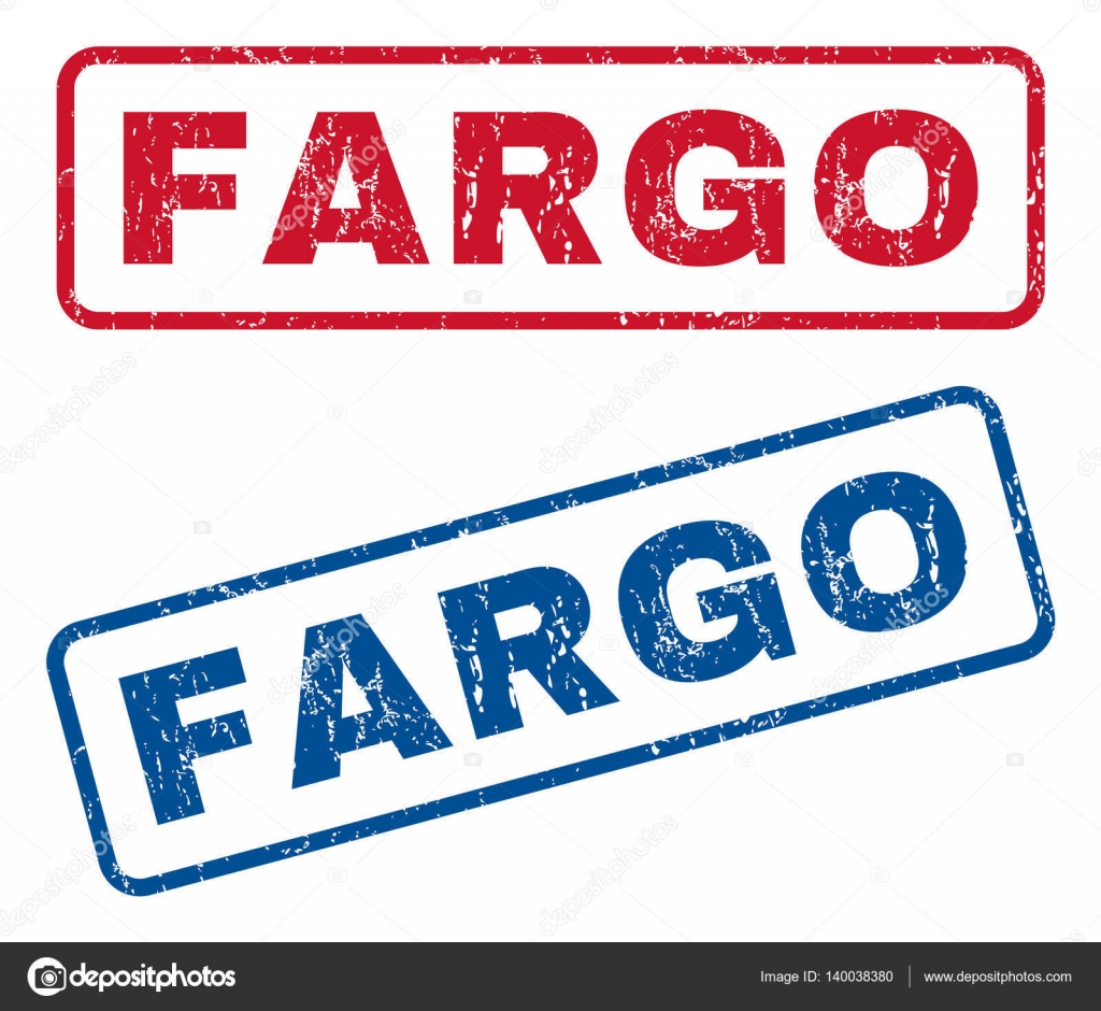 Fargo Rubber Stamps Stock Vector