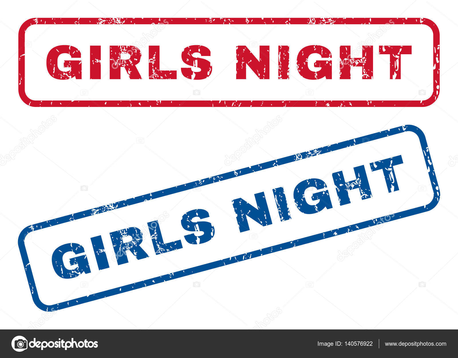 9ad6ab04c2 Girls Night Rubber Stamps — Stock Vector © anastasyastocks.gmail.com ...