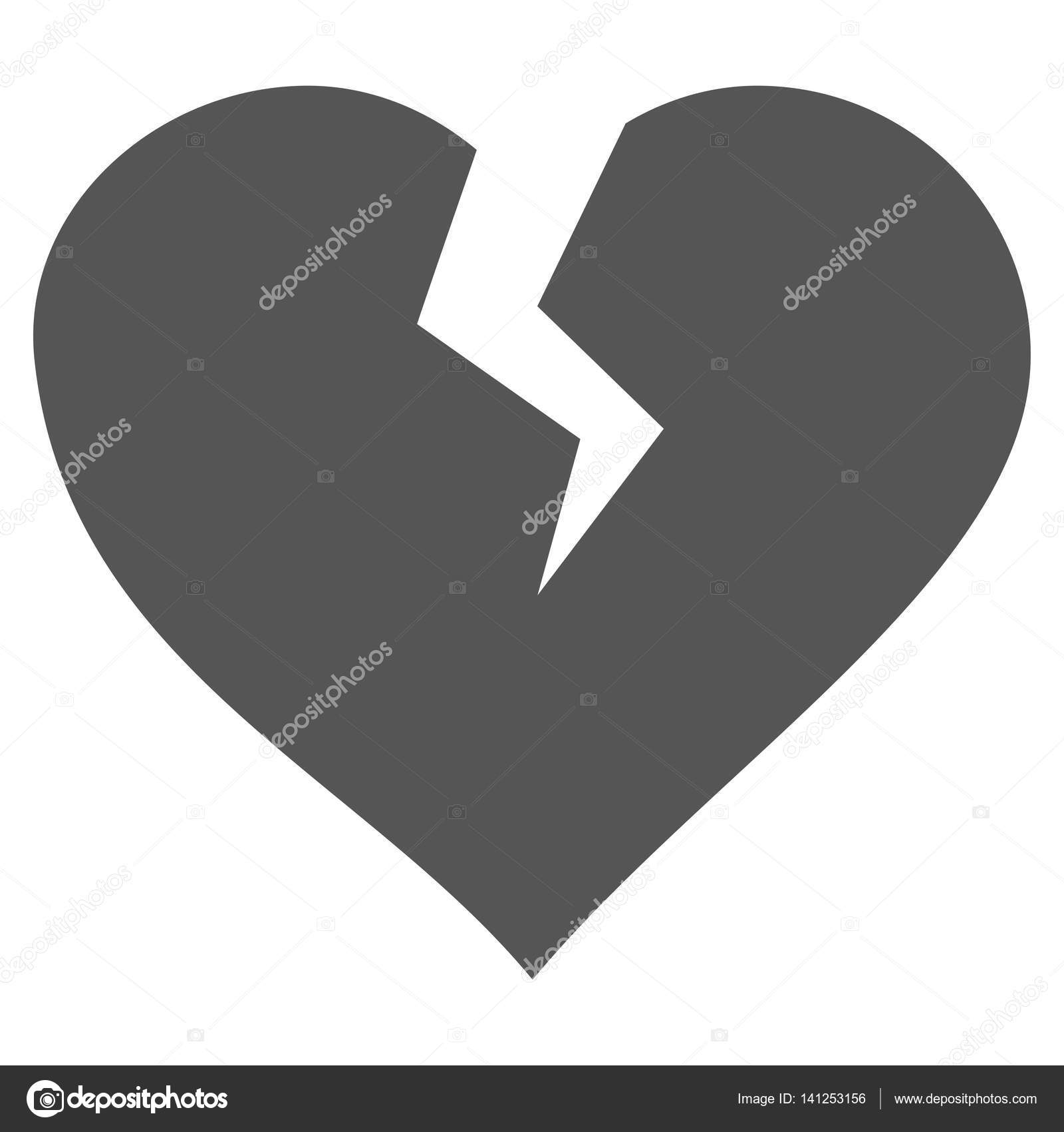 Heart Break Vector Icon Stock Vector Anastasyastocksail