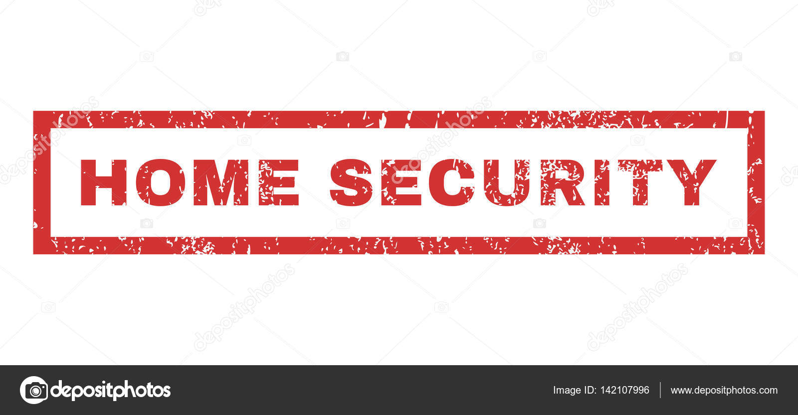 Sello de goma de seguridad para el hogar — Archivo Imágenes ...