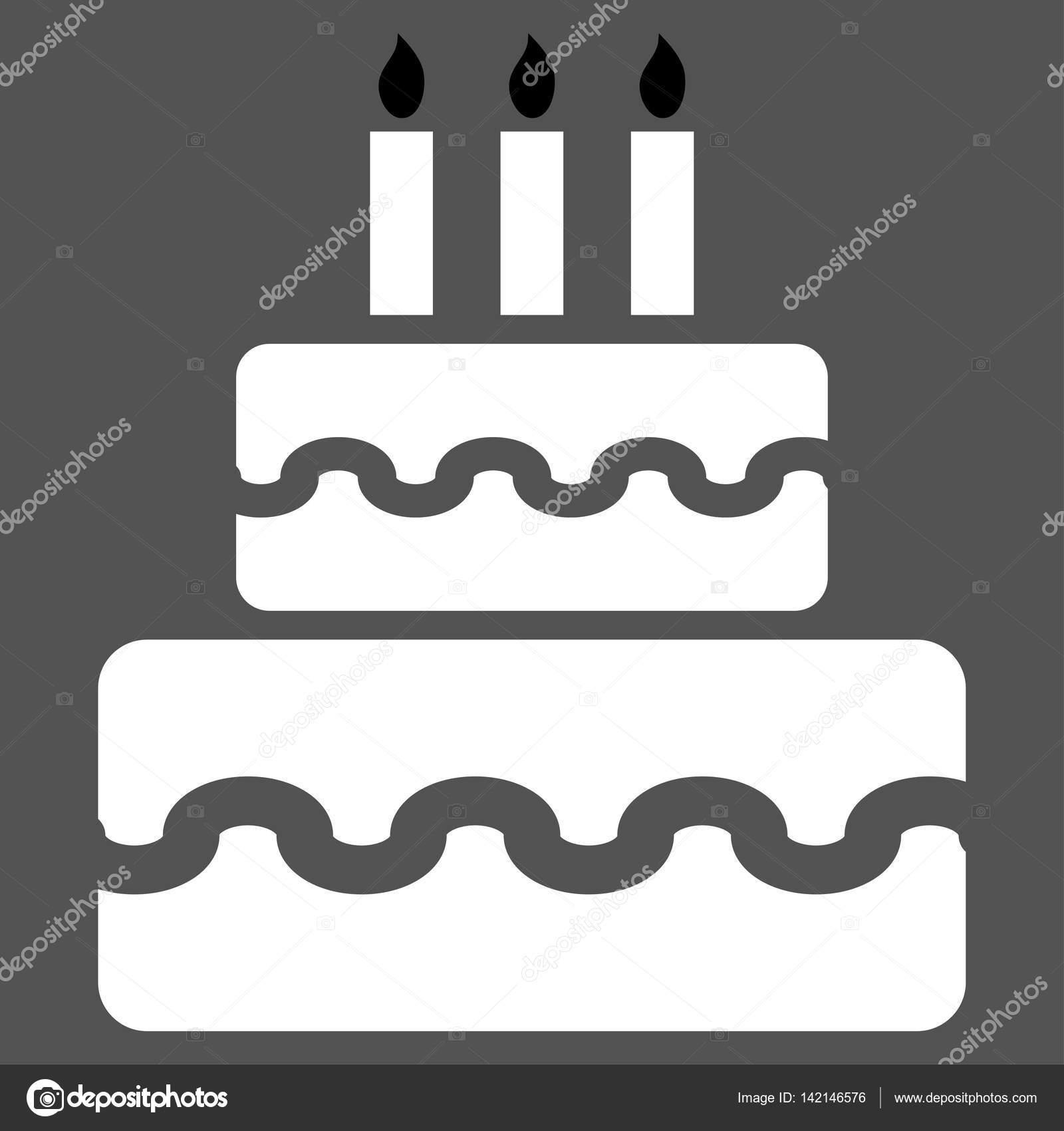 Birthday Cake Vector Icon Stock Vector Anastasyastocksail