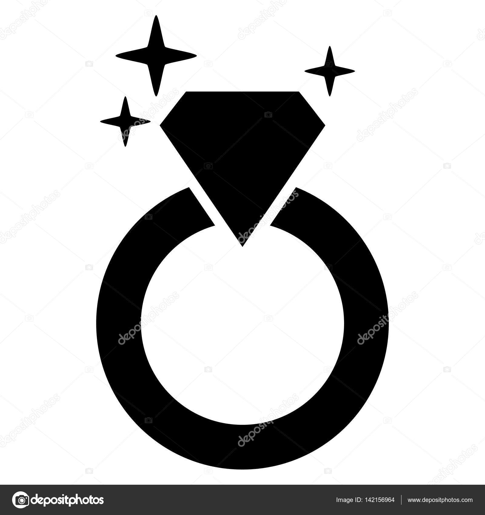 diamond ring vector icon - photo #16