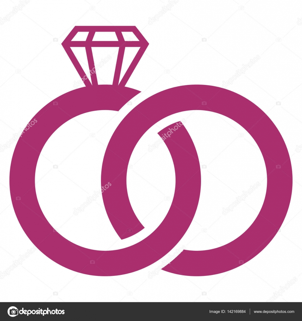 Wedding Rings Vector Icon — Stock Vector © anastasyastocks.gmail.com ...