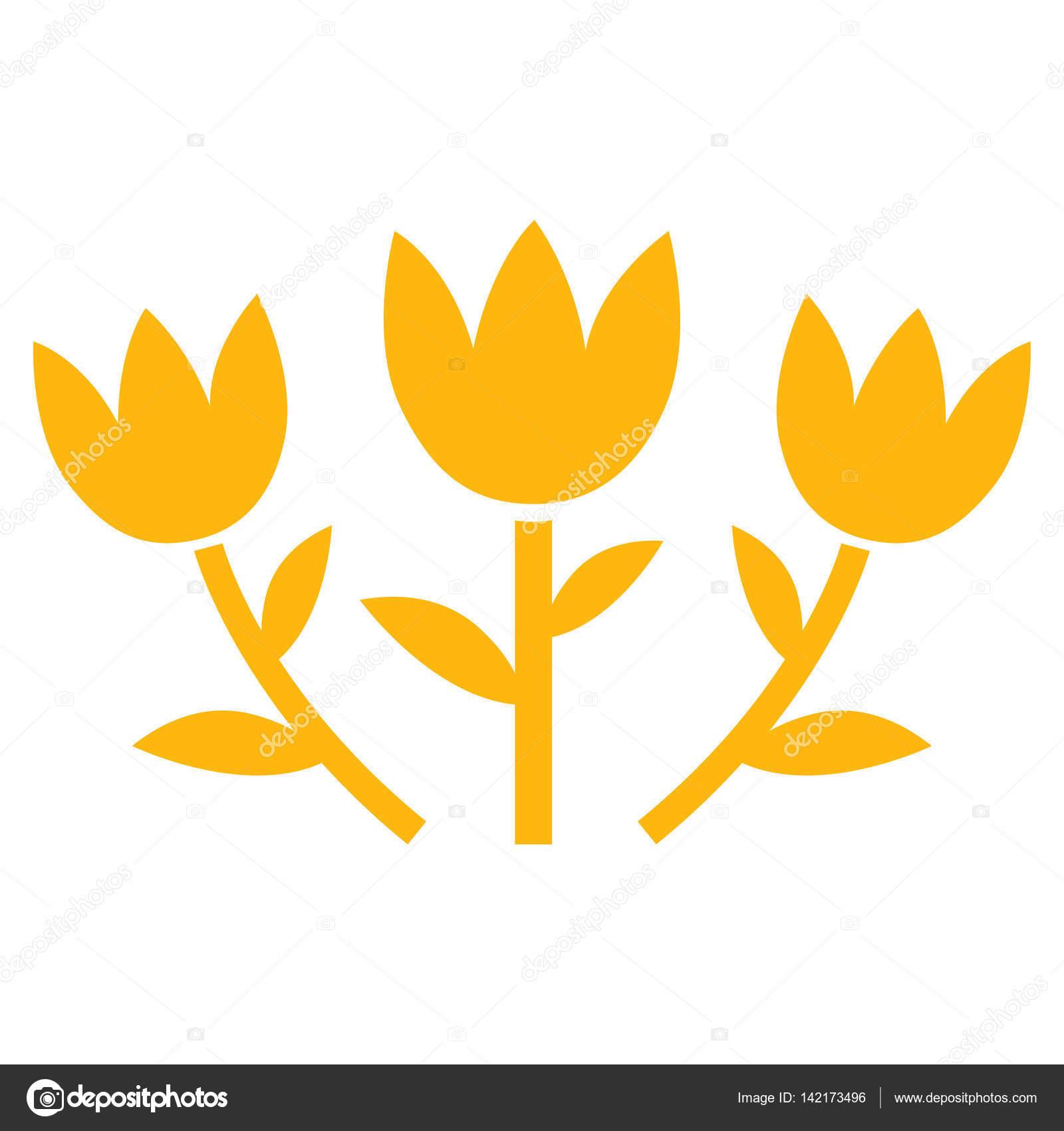 Tulip Flowers Vector Icon Stock Vector Anastasyastocksail