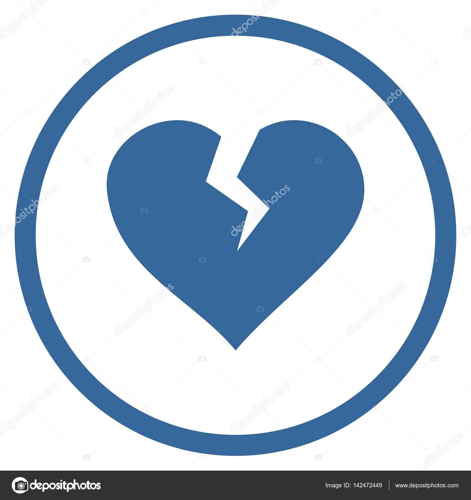 Heart Break Rounded Vector Icon Stock Vector Anastasyastocks
