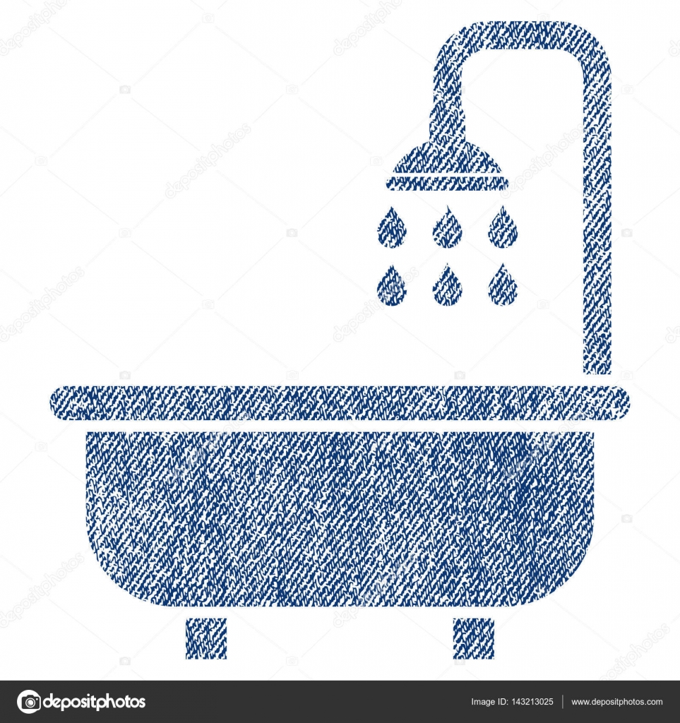 Shower Bath Fabric Textured Icon — Stock Vector