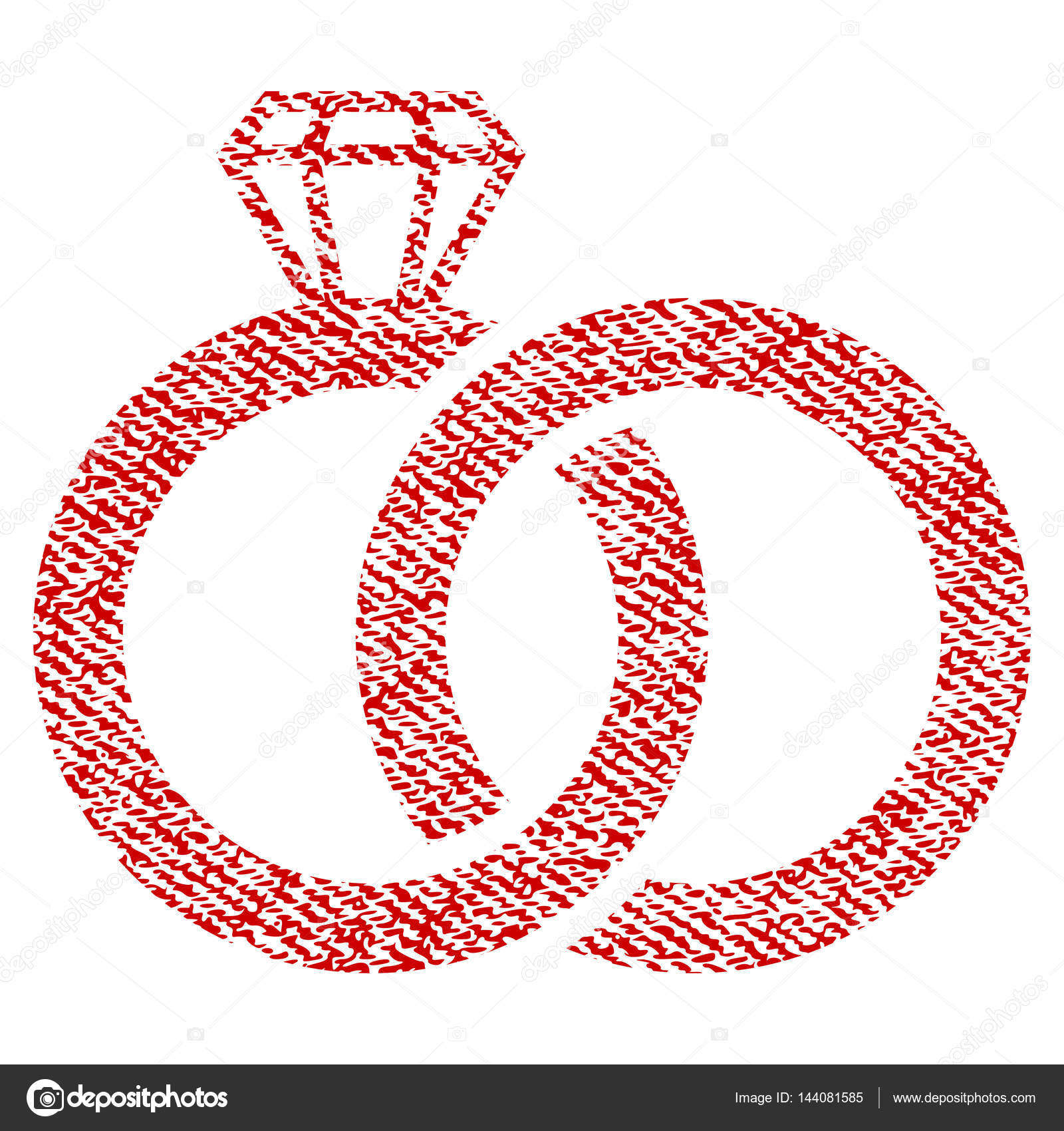 Wedding Rings Fabric Textured Icon — Stock Vector © anastasyastocks ...