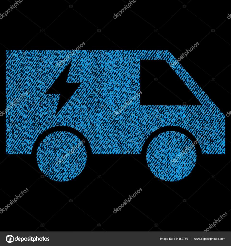 Elektrische Leistung Auto Stoff strukturiert Symbol — Stockvektor ...