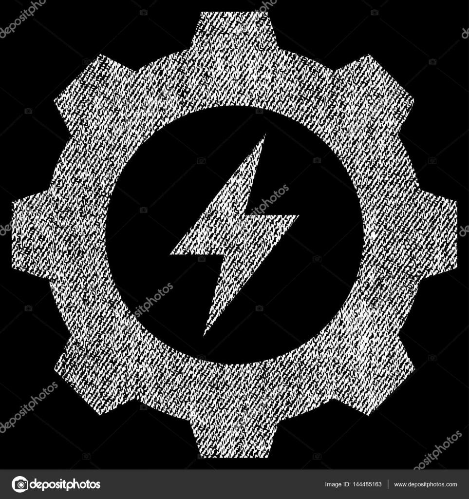 Elektrische Energie Ausrüstung Stoff strukturiert Symbol ...