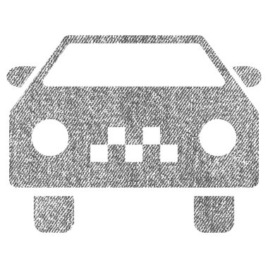 Taxi Car Fabric Textured Icon