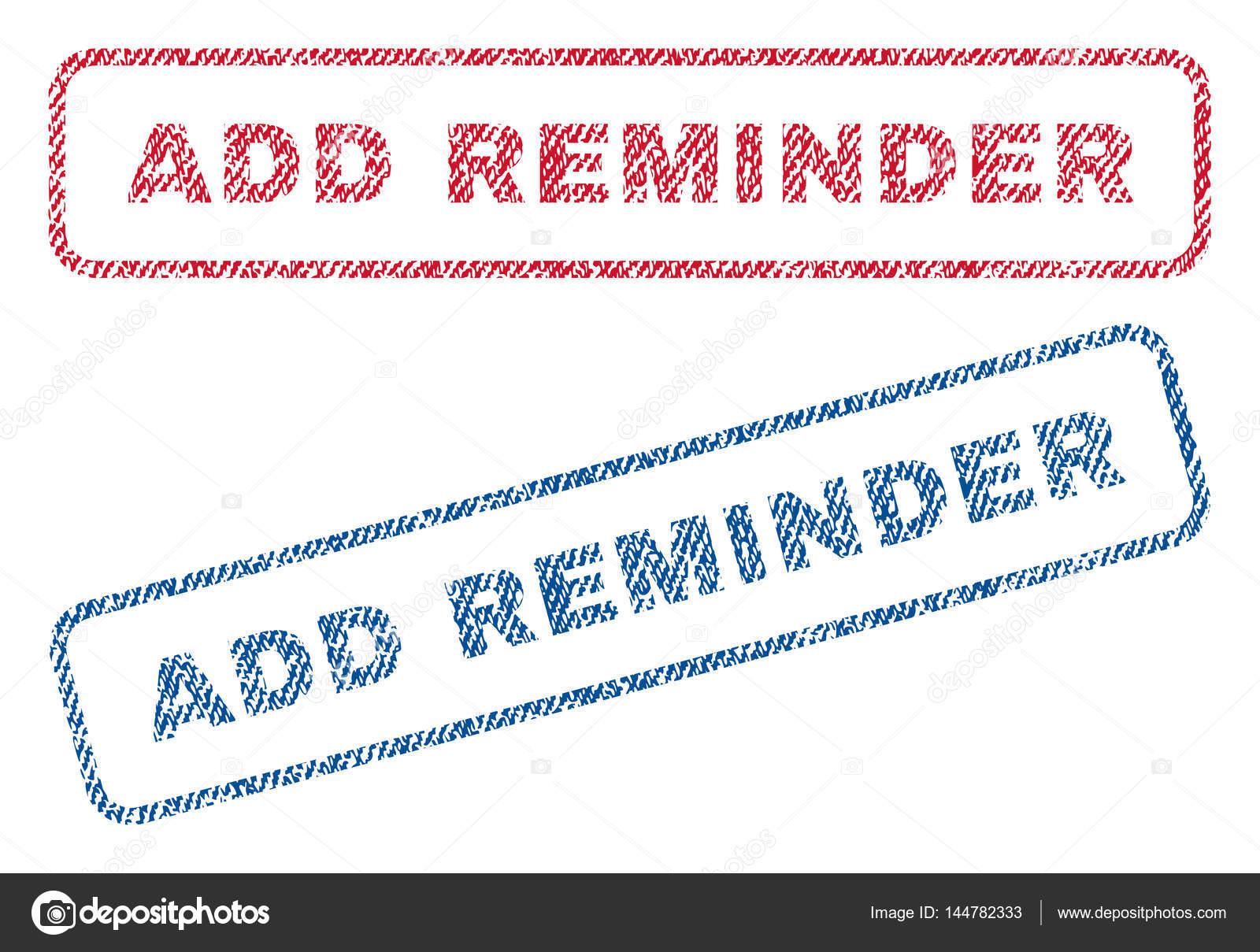 Fügen Sie Erinnerung Textile Briefmarken Stockvektor
