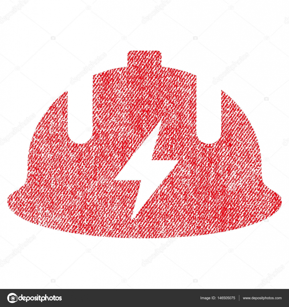 Electrician Helmet Fabric Textured Icon — Stock Vector