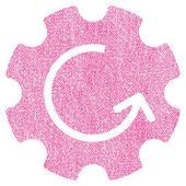 Otáčení látky texturou ozubené kolo