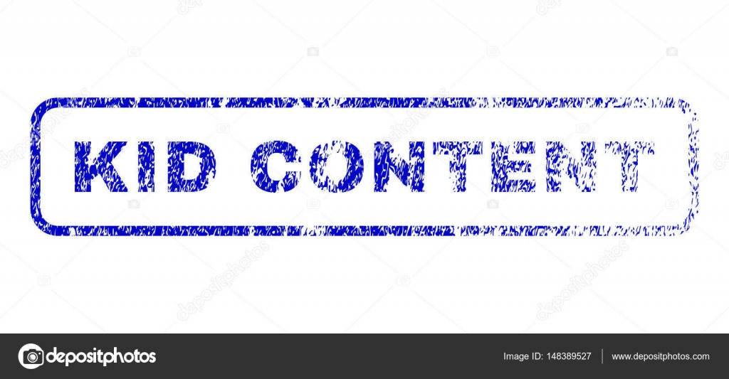 Kid Content Rubber Stamp Stock Vector