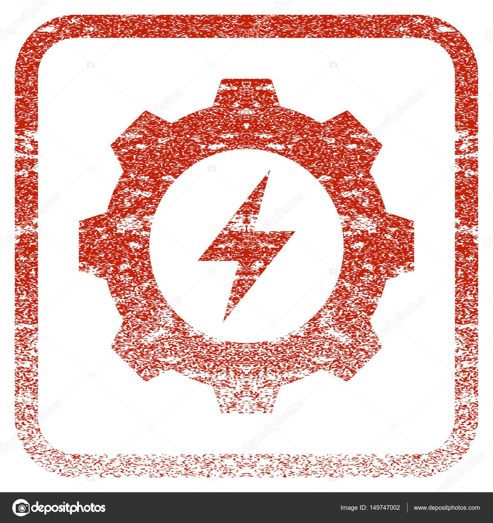 Energía eléctrica equipo enmarcada textura icono — Vector de stock ...