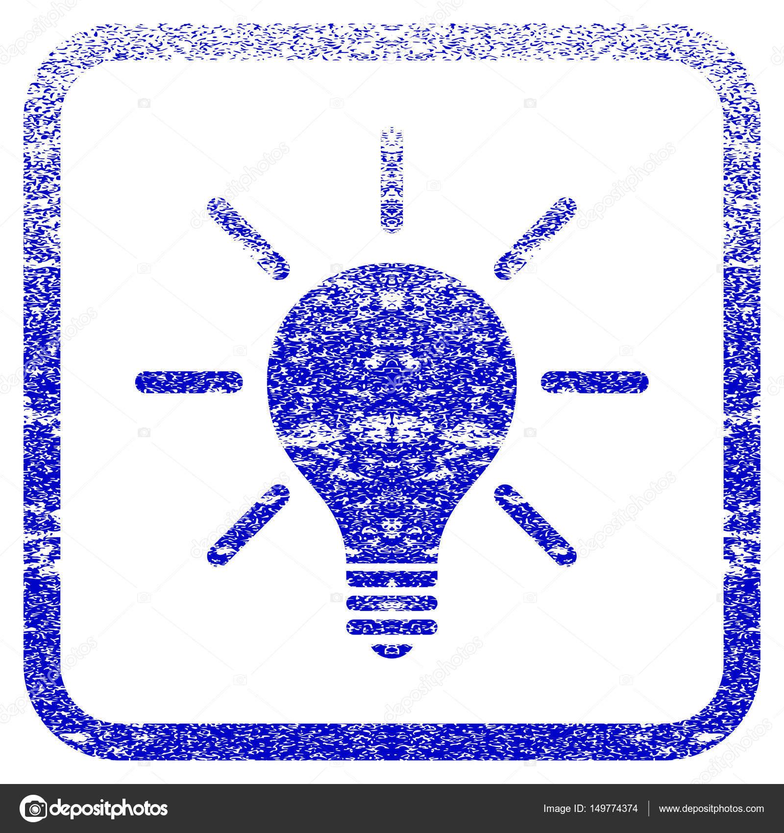 Bombilla de luz enmarcada textura icono — Archivo Imágenes ...