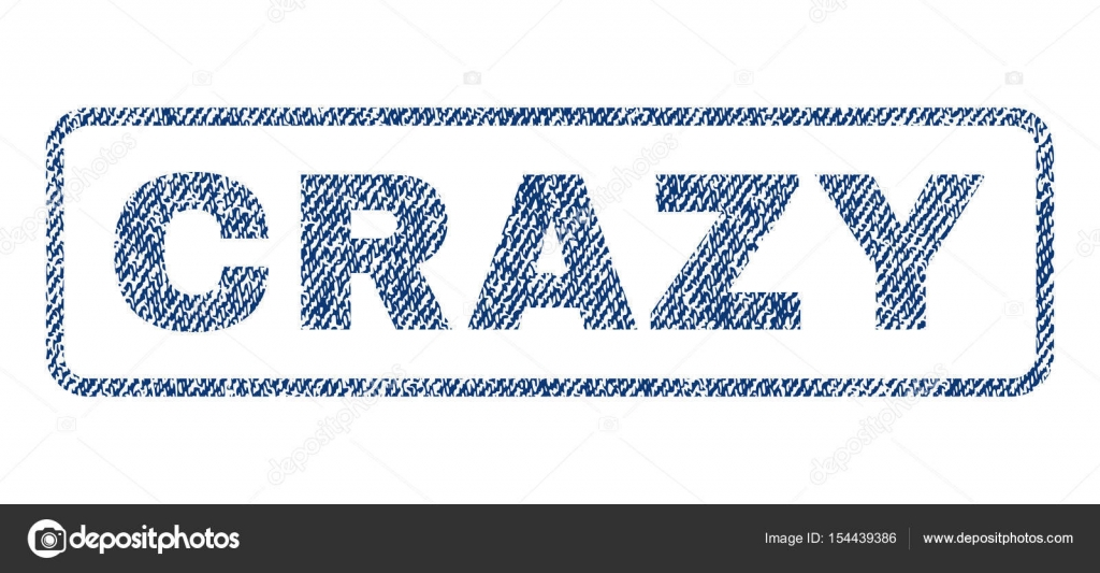 Verrückte Textile Siegel Stempel Textwasserzeichen. Blaue Jeansstoff  vektorisiert Textur. Vektor-Beschriftung innen abgerundeten rechteckigen  Banner. 1575ea1e3c