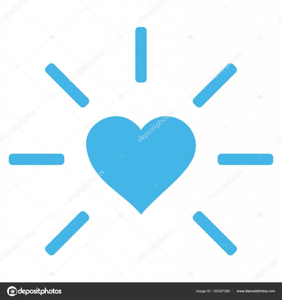 Herz-Vektor-Symbol leuchten — Stockvektor © anastasyastocks.gmail ...