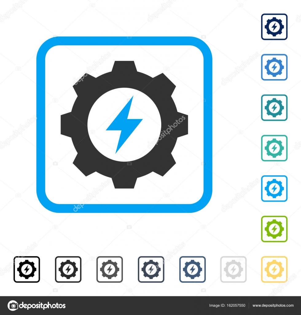 Energía eléctrica equipo enmarcado Vector icono — Vector de stock ...