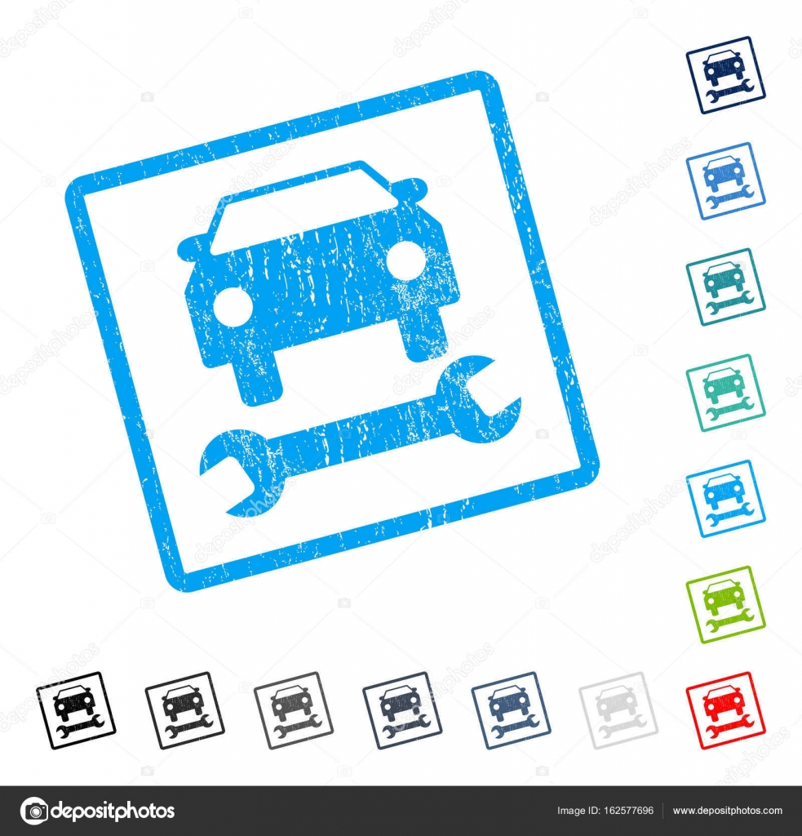 Auto Reparatur Symbol Rubber Wasserzeichen — Stockvektor ...