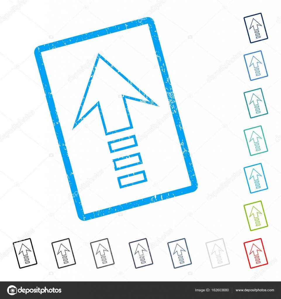 Senden Sie bis Symbol Rubber Wasserzeichen — Stockvektor ...