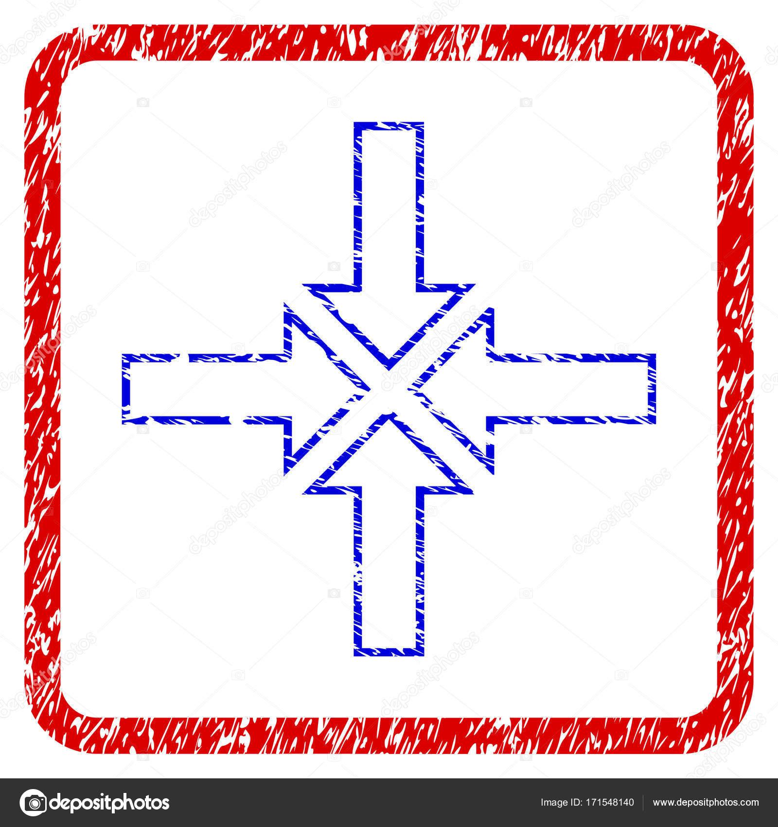 Meeting Point Grunge Framed Icon Stock Vector Anastasyastocks