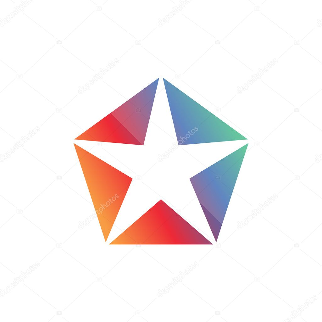 Plantilla de diseño de logotipo estrella geométrica — Archivo ...